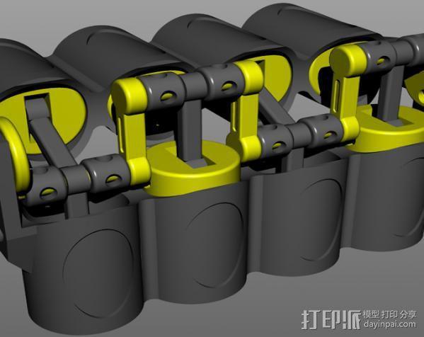 v8发动机 3D模型  图8