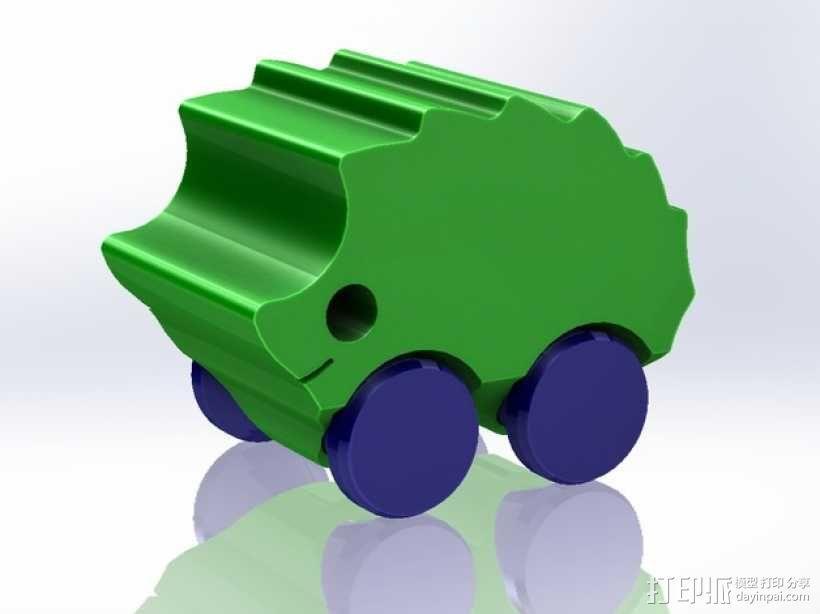 刺猬小车 3D模型  图1
