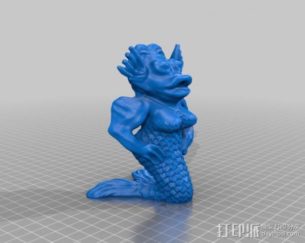 美人鱼 3D模型  图1