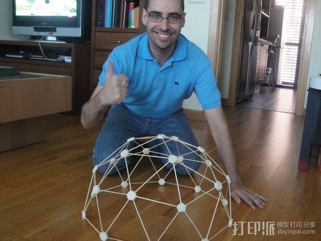 迷你参数化建筑圆顶 3D模型  图1