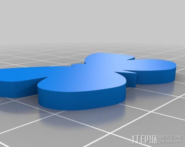 蝴蝶 甘蓝夜蛾 3D模型  图3