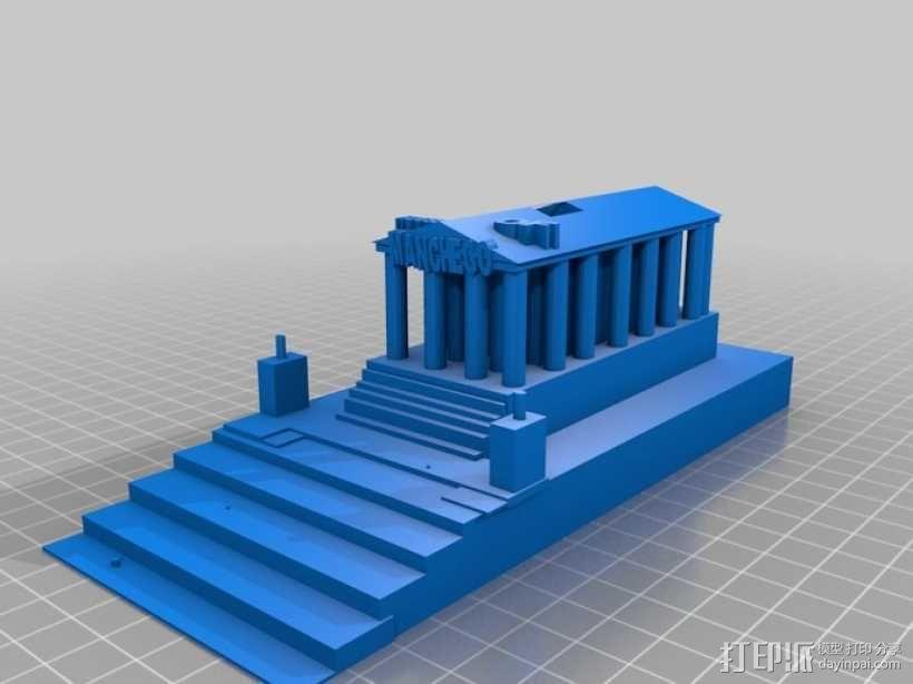 西班牙曼切戈 格伦埃林公共图书馆 3D模型  图1