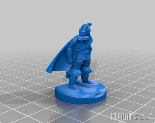 巨剑 战士 3D模型  图2