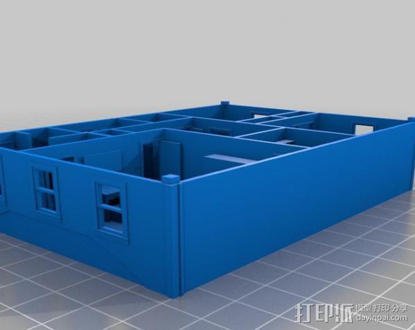 两层小楼 3D模型  图3