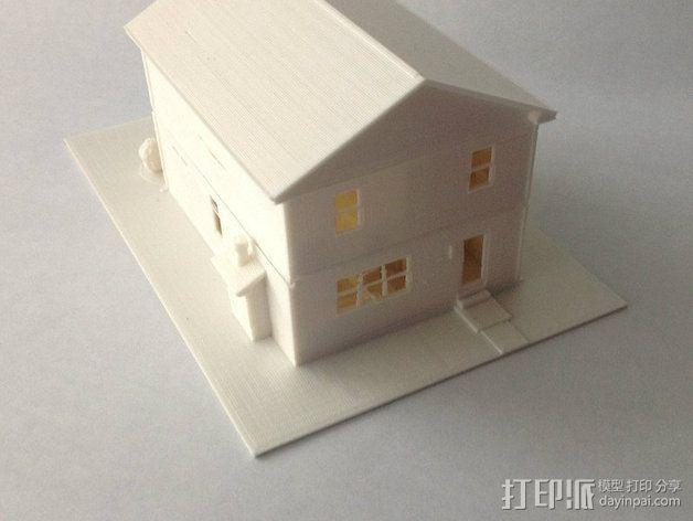 两层小楼 3D模型  图7