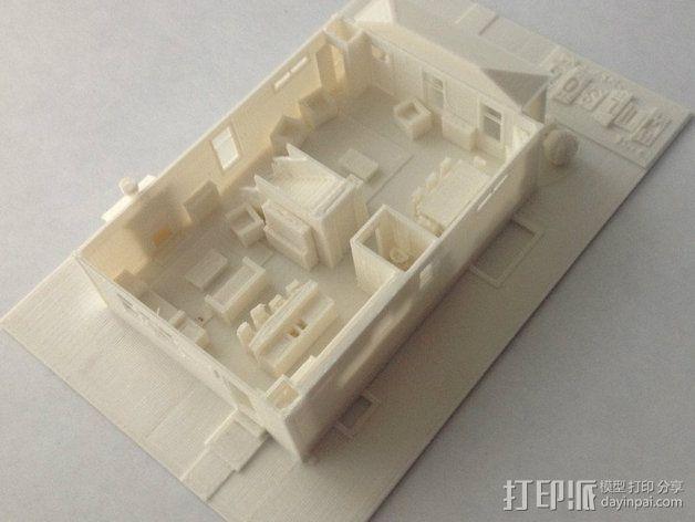 两层小楼 3D模型  图9