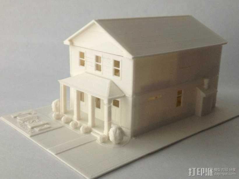 两层小楼 3D模型  图5