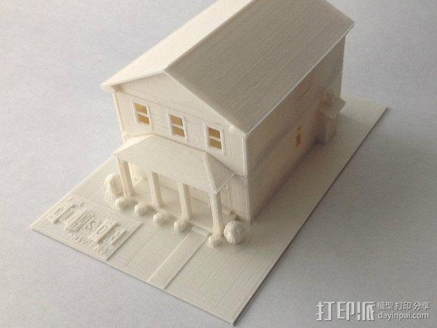 两层小楼 3D模型  图6