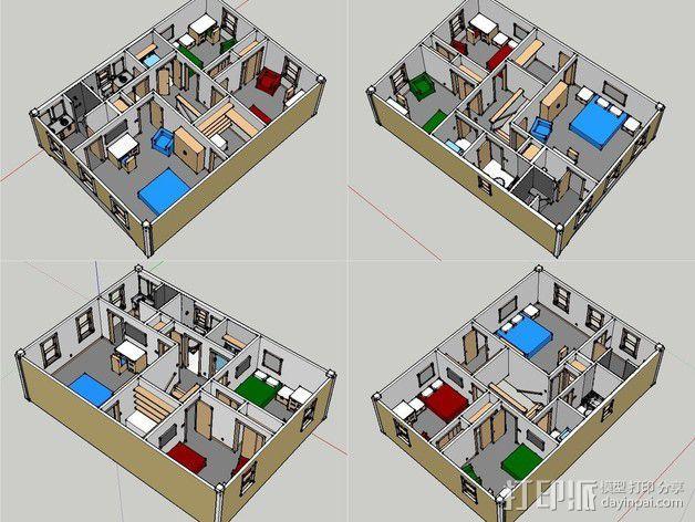 两层小楼 3D模型  图15