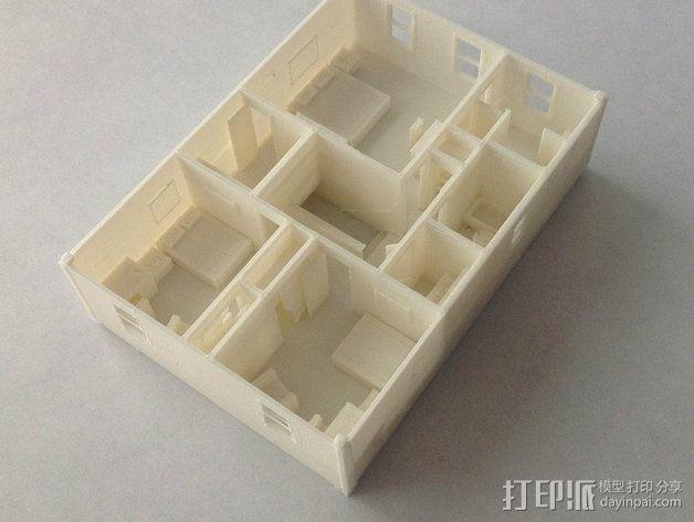 两层小楼 3D模型  图11