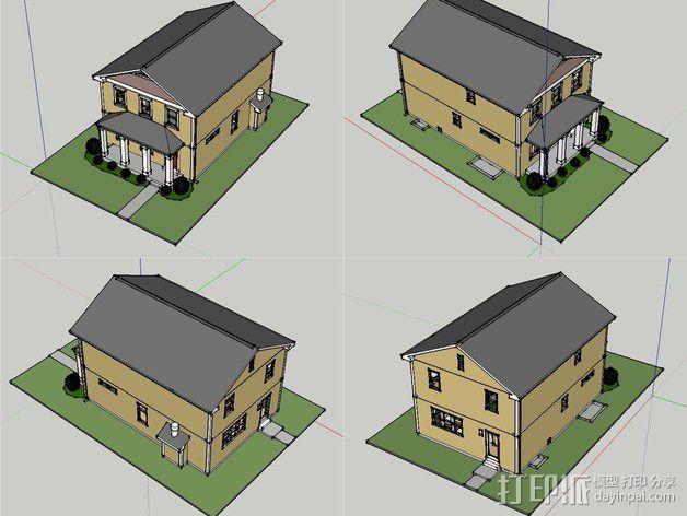 两层小楼 3D模型  图13