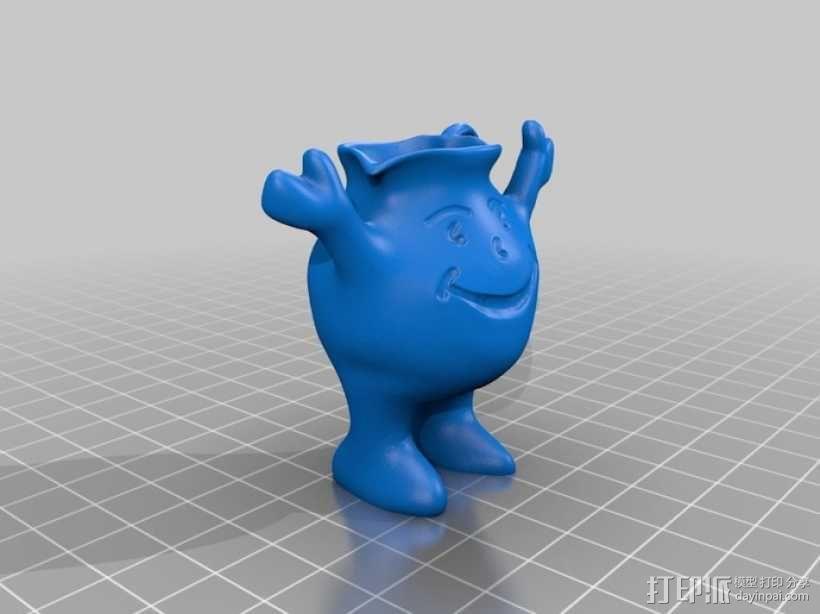 Kool aid饮料 吉祥物 3D模型  图3