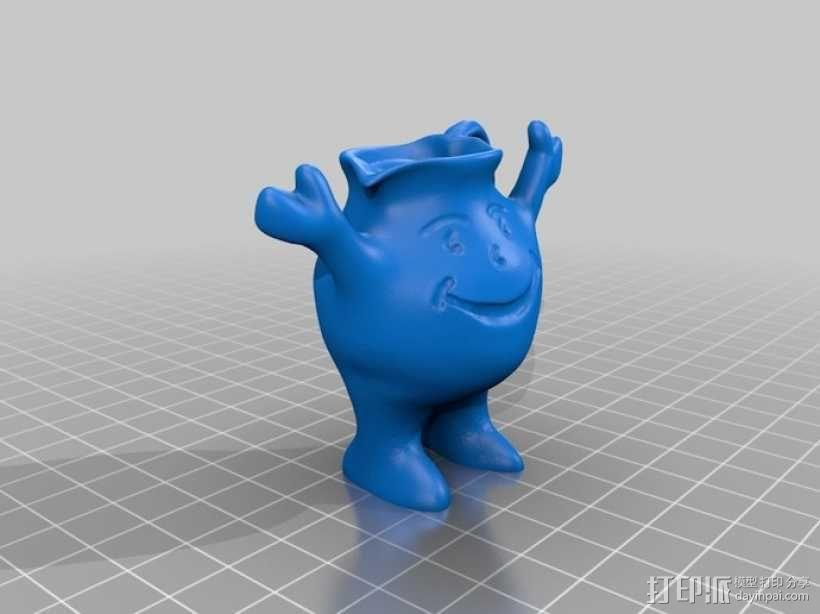 Kool aid饮料 吉祥物 3D模型  图4