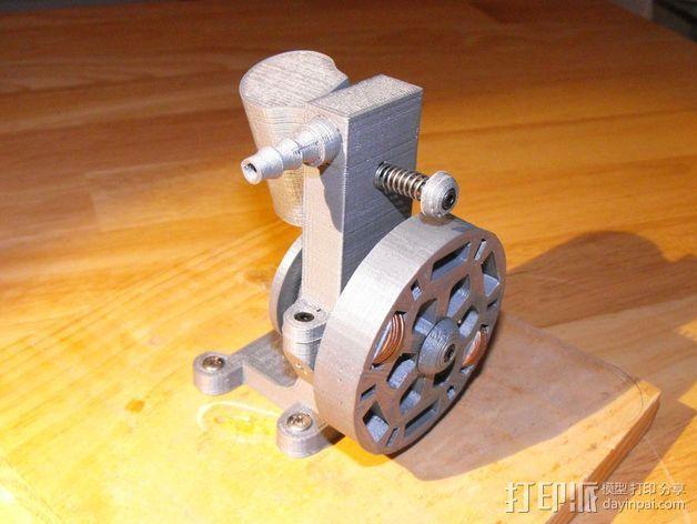 迷你振荡蒸汽机MKI 3D模型  图2