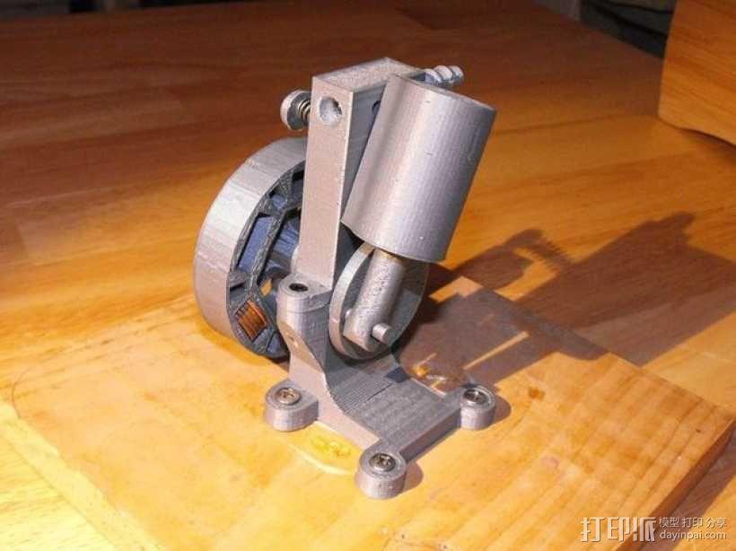 迷你振荡蒸汽机MKI 3D模型  图1
