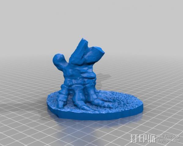 嵌齿象 足骨 3D模型  图1