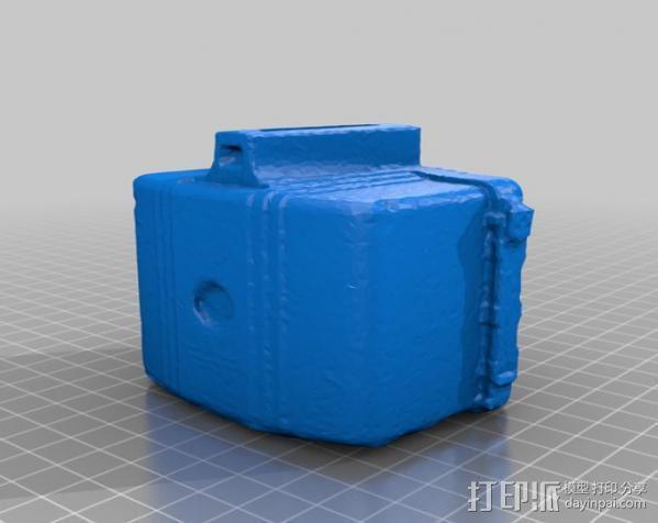 布朗尼相机 存钱罐 3D模型  图2