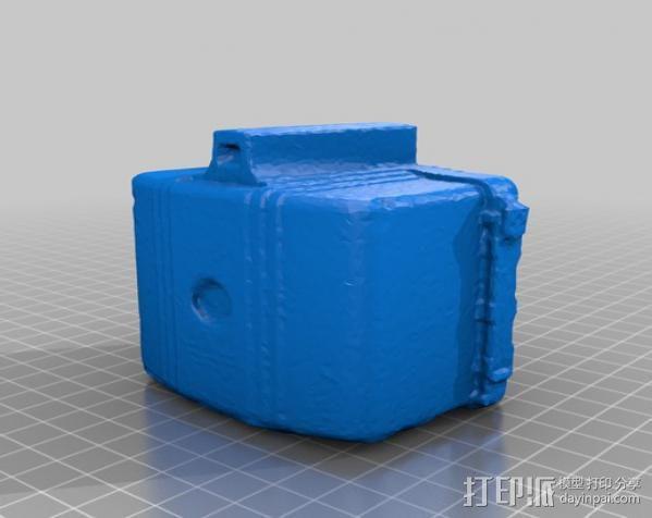 布朗尼相机 存钱罐 3D模型  图3