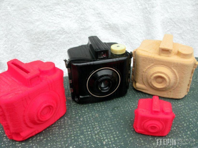 布朗尼相机 存钱罐 3D模型  图1