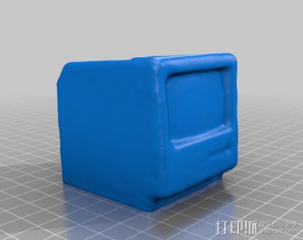 Mac Plus 苹果电脑 3D模型  图1