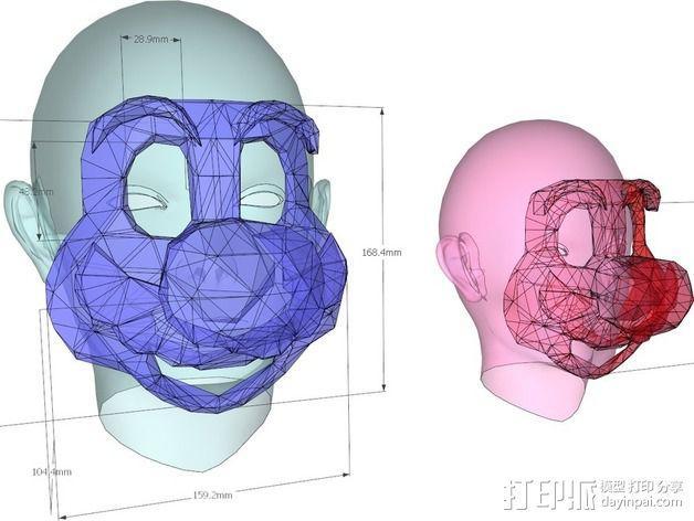 管道工 面具 3D模型  图10