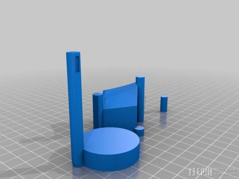 月亮 龙 城堡 3D模型  图2