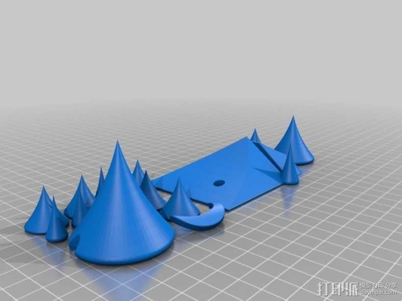 月亮 龙 城堡 3D模型  图4