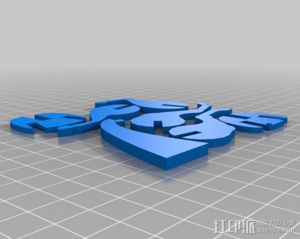 独角兽 3D模型  图3