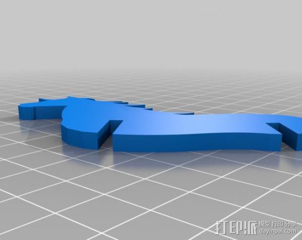 独角兽 3D模型  图4