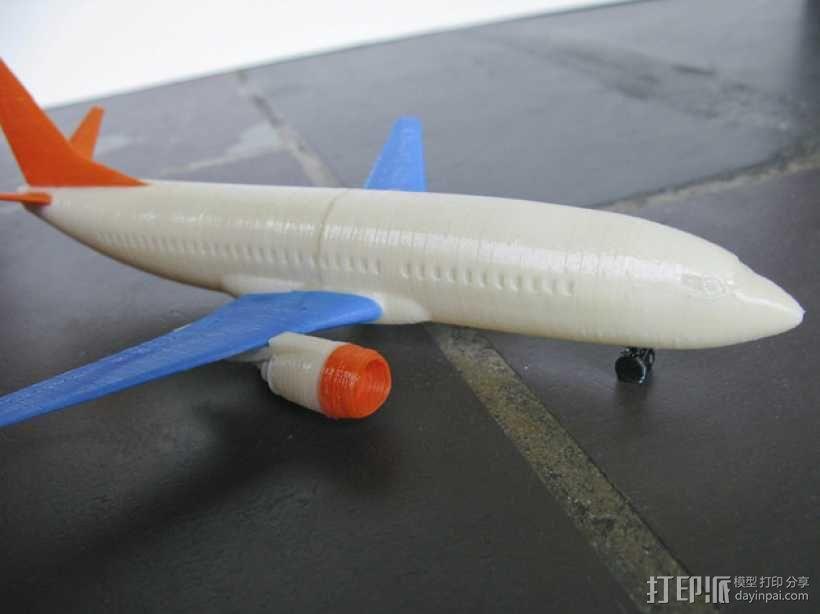 波音飞机737 - 300 3D模型  图1
