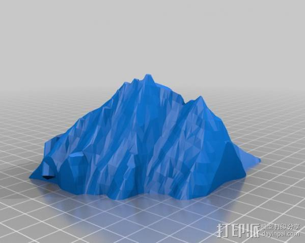 漂浮的灯塔岛  3D模型  图3