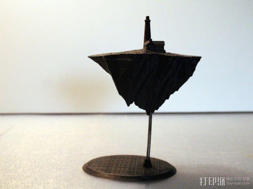 漂浮的灯塔岛  3D模型  图6
