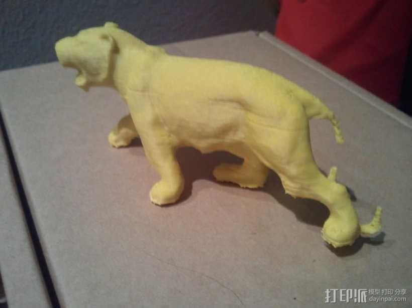 老虎 玩具 3D模型  图1