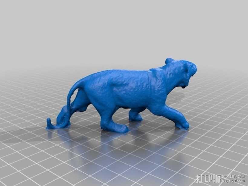 老虎 玩具 3D模型  图2