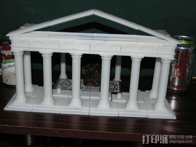 多立克柱式 希腊罗马神殿 3D模型  图2