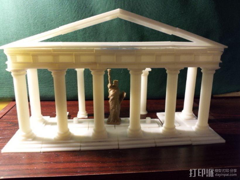 多立克柱式 希腊罗马神殿 3D模型  图1