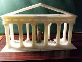 多立克柱式 希腊罗马神殿 3D模型