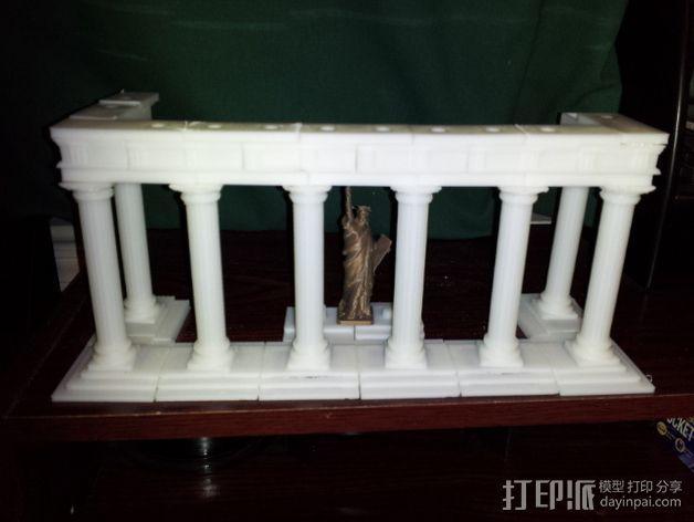 多立克柱式 希腊罗马神殿 3D模型  图6