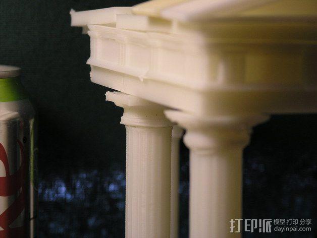 多立克柱式 希腊罗马神殿 3D模型  图3