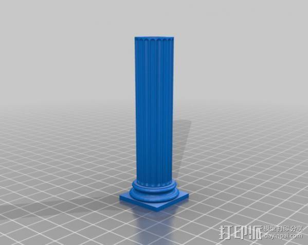 多立克柱式 希腊罗马神殿 3D模型  图7