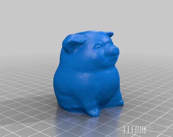 幸运猪 3D模型  图2
