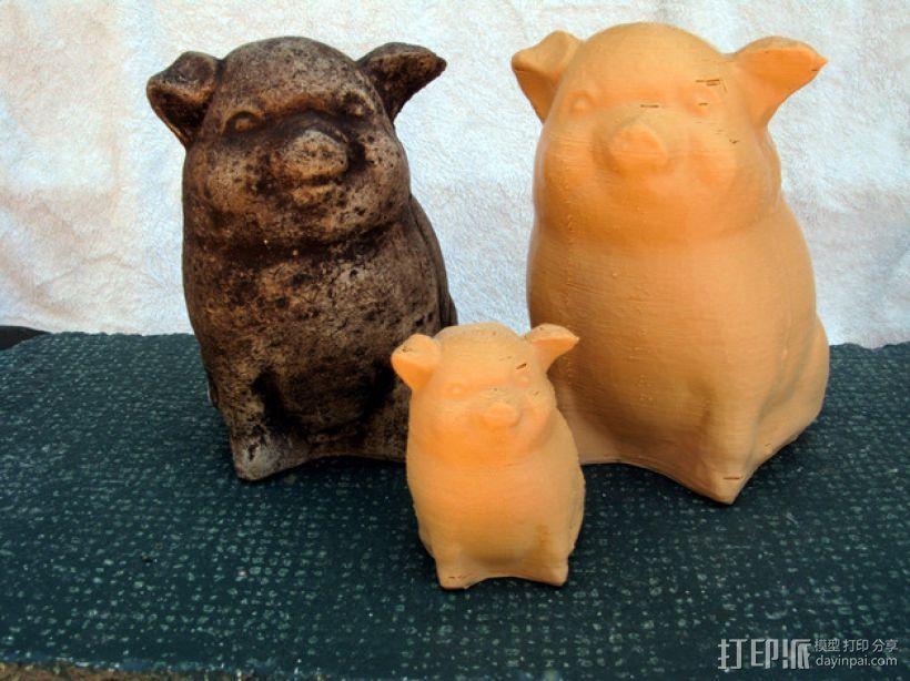 幸运猪 3D模型  图1