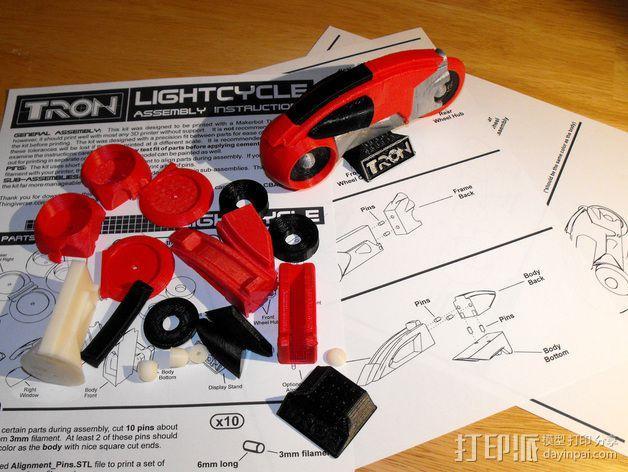 Lightcycle 光速摩托车 3D模型  图9