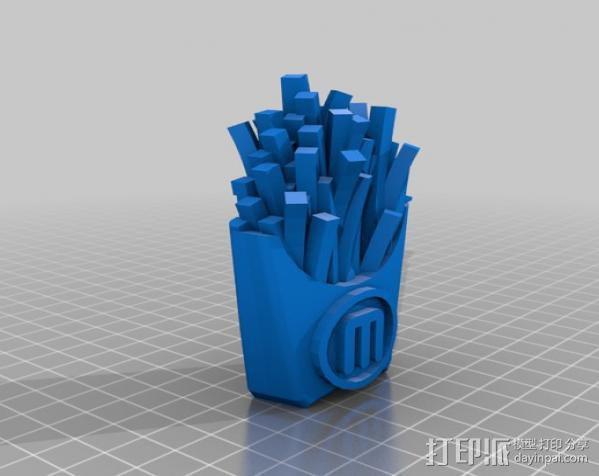 薯条  3D模型  图2