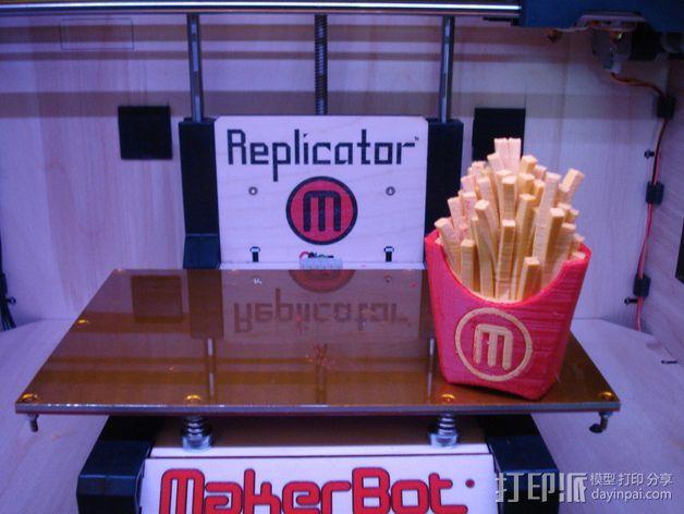 薯条  3D模型  图4