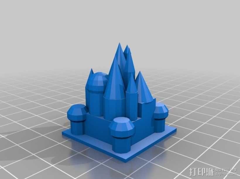 迷你城堡 3D模型  图1
