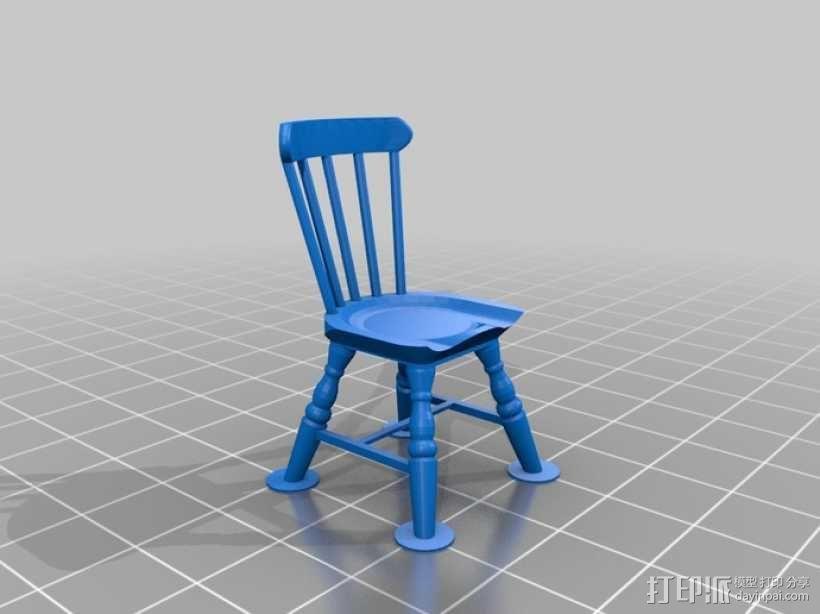 1:24温莎椅 3D模型  图3