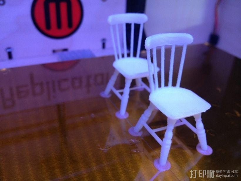 1:24温莎椅 3D模型  图7