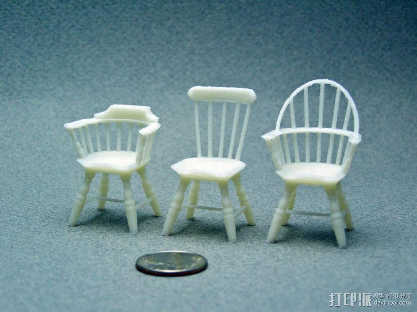 1:24温莎椅 3D模型  图5