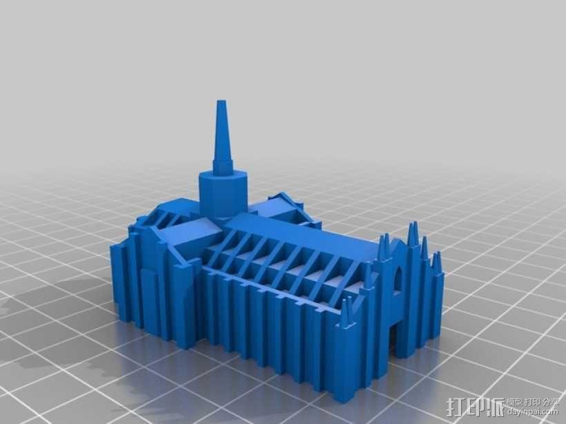米兰大教堂 3D模型  图1